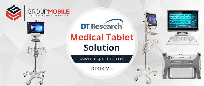 Increase Healthcare Efficiency and Productivity with the DT Research Medical Tablet & Cart Solution!